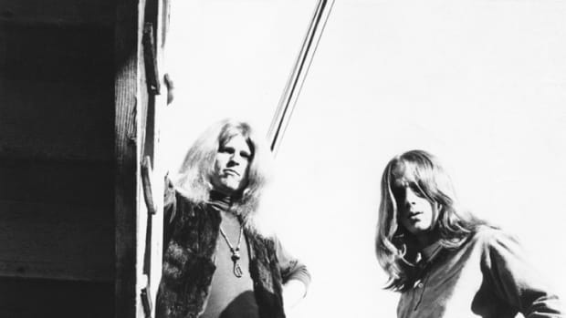 "Members of the rock band ""Blue Cheer"" pose for a circa late-1960's portrait. Original members include Dickie Peterson, Leigh Stephens, and Paul Whaley. (Photo by Michael Ochs Archives/Getty Images)"