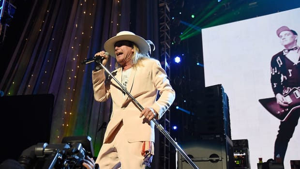 Robin Zander of Cheap Trick performs onstage during 31st Annual Rock And Roll Hall Of Fame Induction Ceremony at Barclays Center of Brooklyn on April 8, 2016 in New York City. (Photo by Kevin Mazur/WireImage for Rock and Roll Hall of Fame)