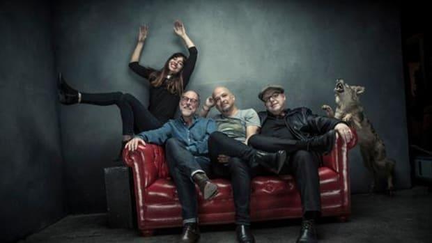 Pixies, L-R: Paz Lenchantin, David Lovering, Joey Santiago, Black Francis Photo credit: Travis Shinn