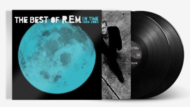 """The 2-LP vinyl reissue of R.E.M.'s platinum-selling collection, """"In Time: The Best of R.E.M. 1988-2003."""""""
