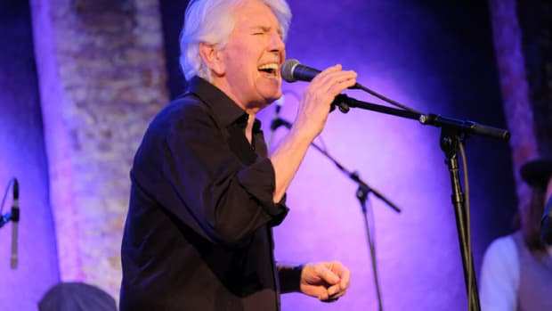Graham Nash performs live on stage at City Winery on January 24, 2018 in New York City. (Photo by Matthew Eisman/WireImage)