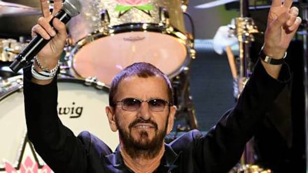Ringo Starr performs during this year's tour with his All Starr Band. (Photo by Kevin Winter/Getty Images)