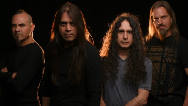 Fates Warning (L-R): Bassist Joey Vera, vocalist Ray Alder, guitarist Jim Matheos and drummer Bobby Jarzombek. (Inside Out publicity photo)