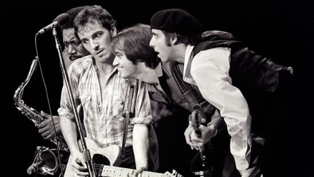 "Bruce Springsteen and the E Street Band in 1980 during the original tour for ""The River."" Mark Weiss photo."