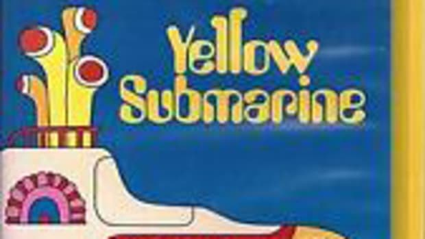 "The animated Beatles' film ""Yellow Submarine"" in VHS format."