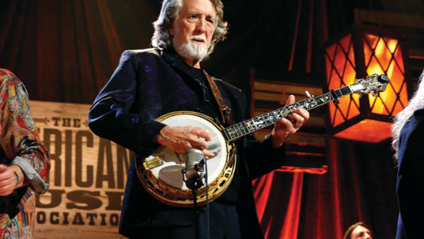 Nitty Gritty Dirt Band's John McEuen performs onstage at the Americana Honors & Awards 2016 at Ryman Auditorium on September 21, 2016 in Nashville, Tennessee. (Photo by Terry Wyatt/Getty Images for Americana Music)