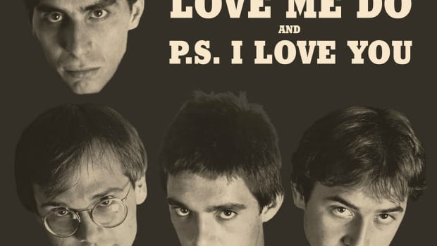 The Smithereens -- Love Me Do and PS I Love You 45 single sleeve art