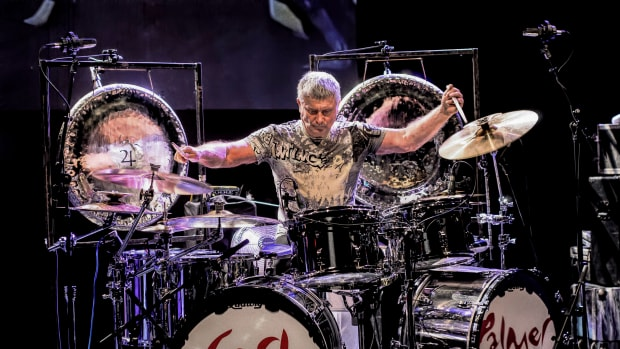 Carl Palmer, shown here performing in Montreal in 2014, brought his ELP Legacy tour to The Iridium in NYC's Times Square on Tuesday, November 19th. Photo courtesy of publicity.