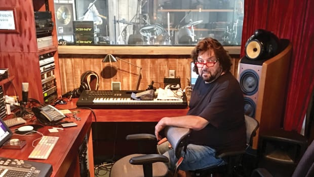 Alan Parsons at his home studio.