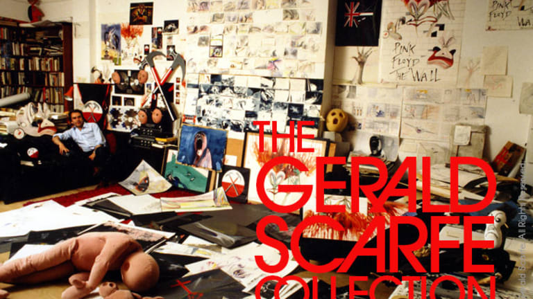 """Gerald Scarfe discusses his collection of art from Pink Floyd's """"The Wall"""""""