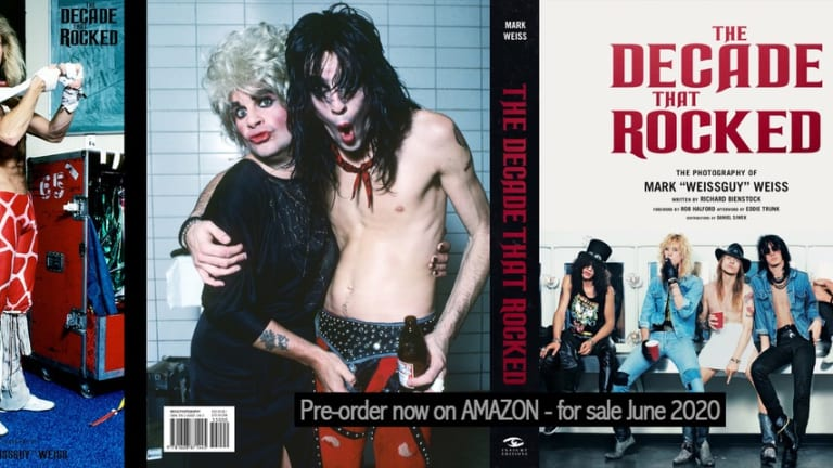 A hardcover book of rock photography that defined the '80s to be released in June