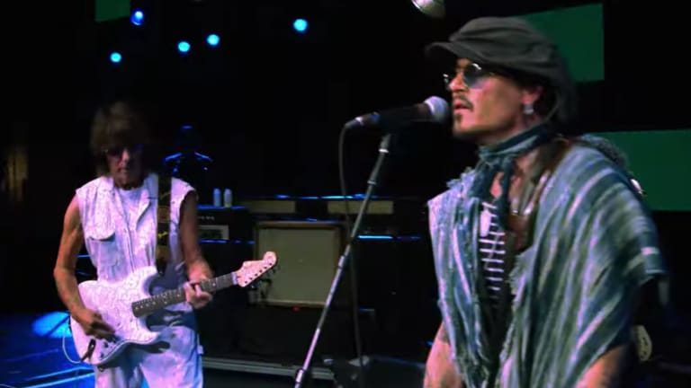"Jeff Beck and Johnny Depp premiere music video, ""Isolation"""