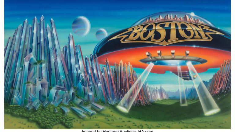 Boston album cover art sells for over $80k