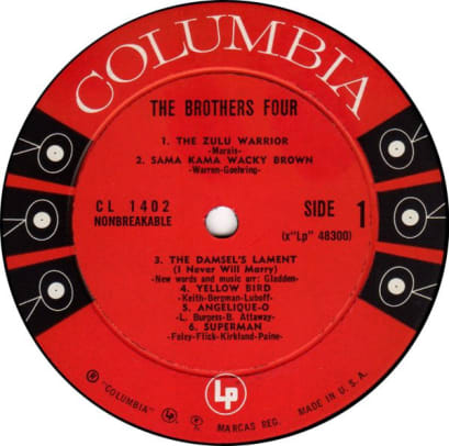 Brothers four label