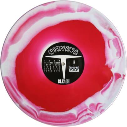 Bleach - US - Swirled Red & White Side A
