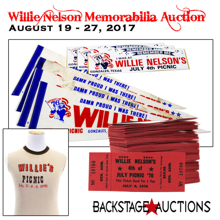 Willie Nelson Memorabilia Auction Features Items From His