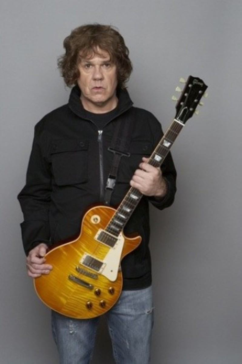 Gary Moore made a 1995 tribute LP for mentor Peter Green, Blues for Greeny. Photo: Sam Scott Hunter.