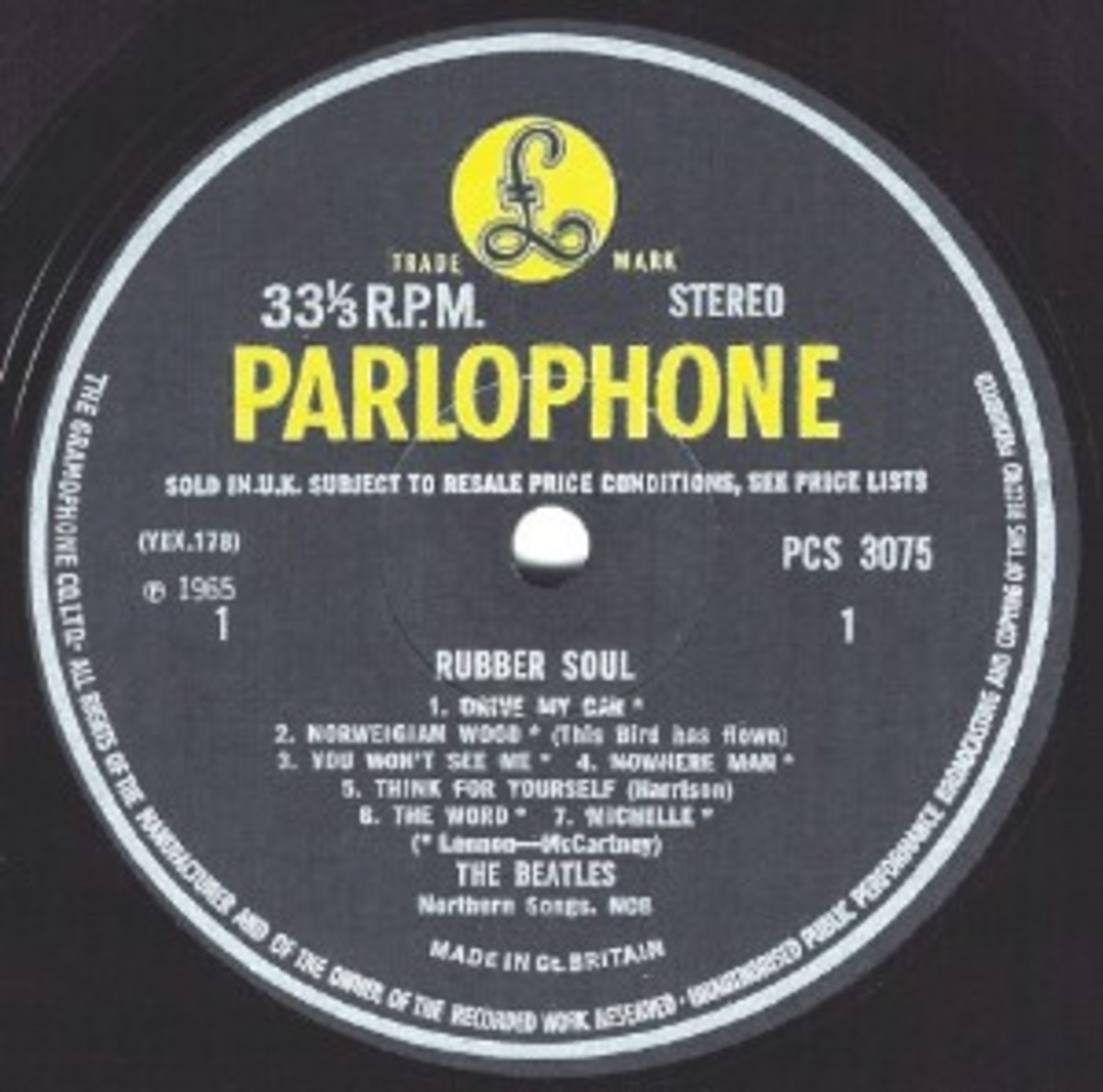 The Beatles - Rubber Soul (Parlophone PCS 3075)
