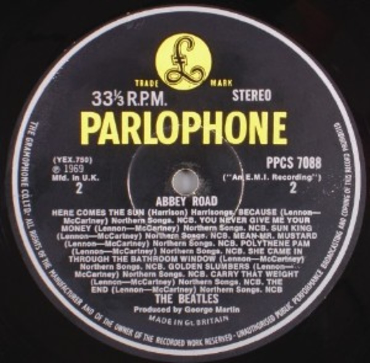 Abbey Road (Parlophone P-PCS 7088) 1969