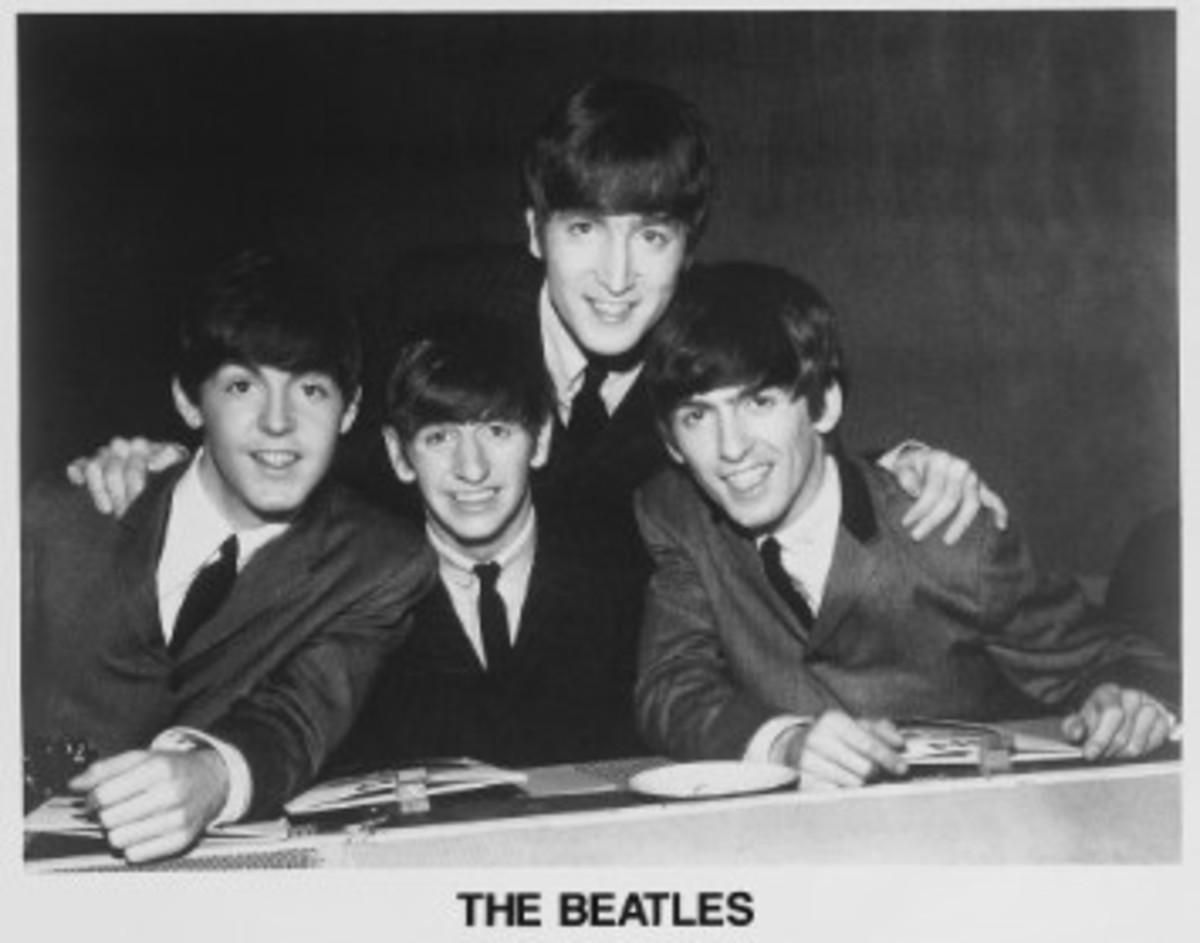"The Beatles on VJ Photo Print 14 x 11/"""