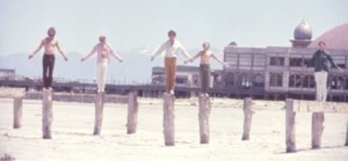 A rare photo of The Beach Boys. Courtesy of Endless Summer Quarterly/collection of Brian Berry.