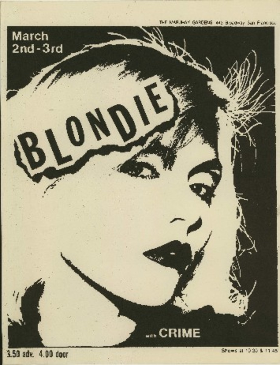 Flyer - Blondie at Mabuhay Gardens with Crime