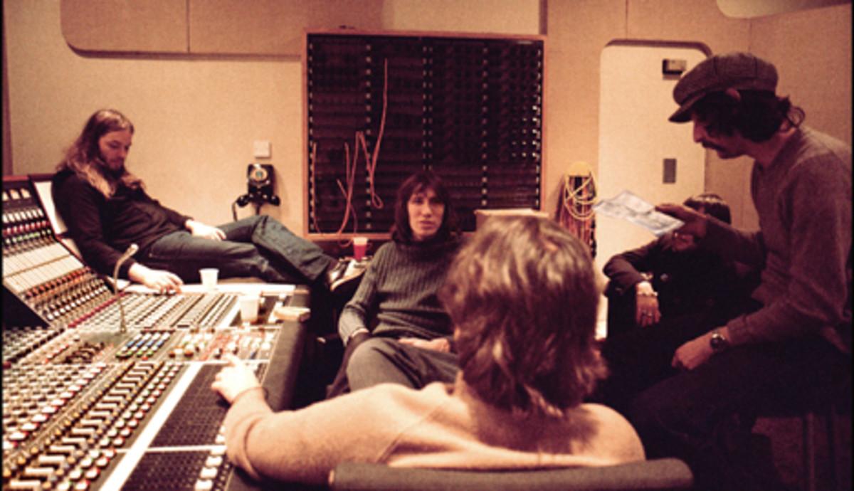 Pink Floyd Gilmour Waters In Studio