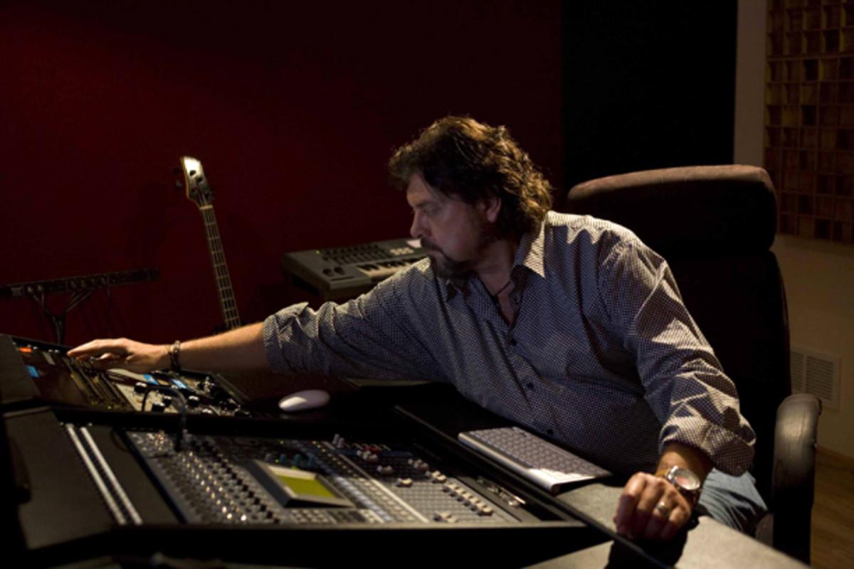 Alan Parsons in the studio