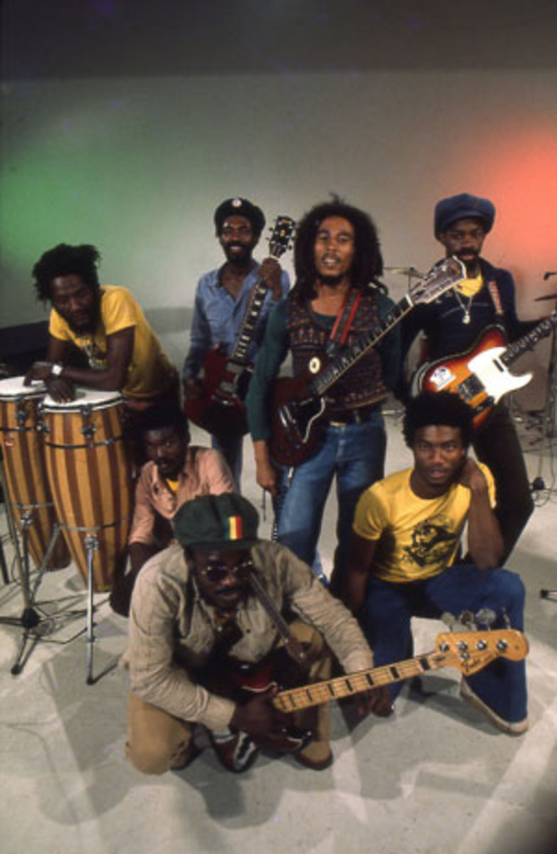 BOB MARLEY AND THE WAILERS 1978 HOLLAND PHOTO BY LAURENS VAN HOUTEN/FRANK WHITE PHOTO AGENCY