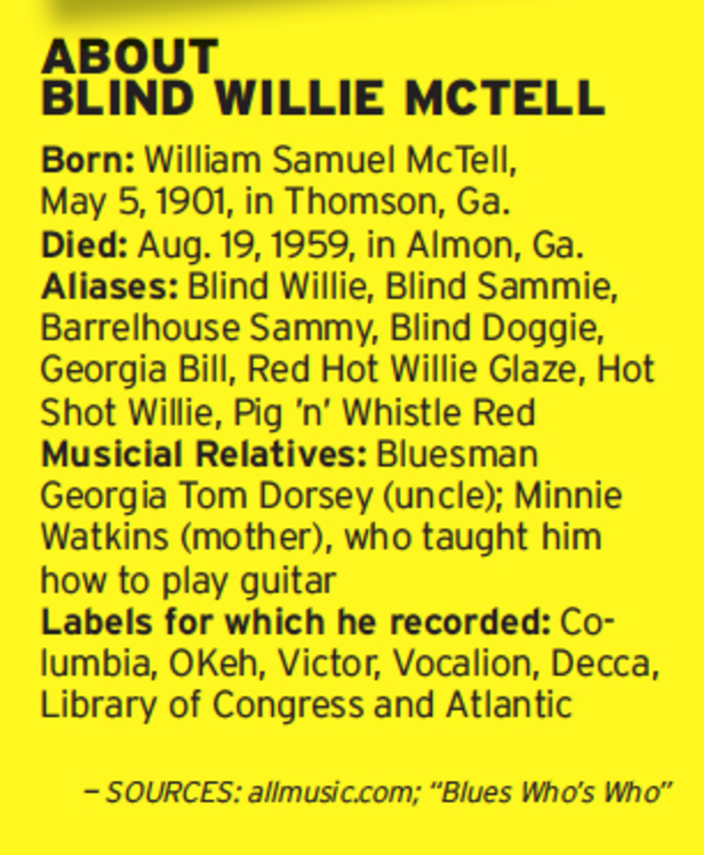 About Blind Willie McTell