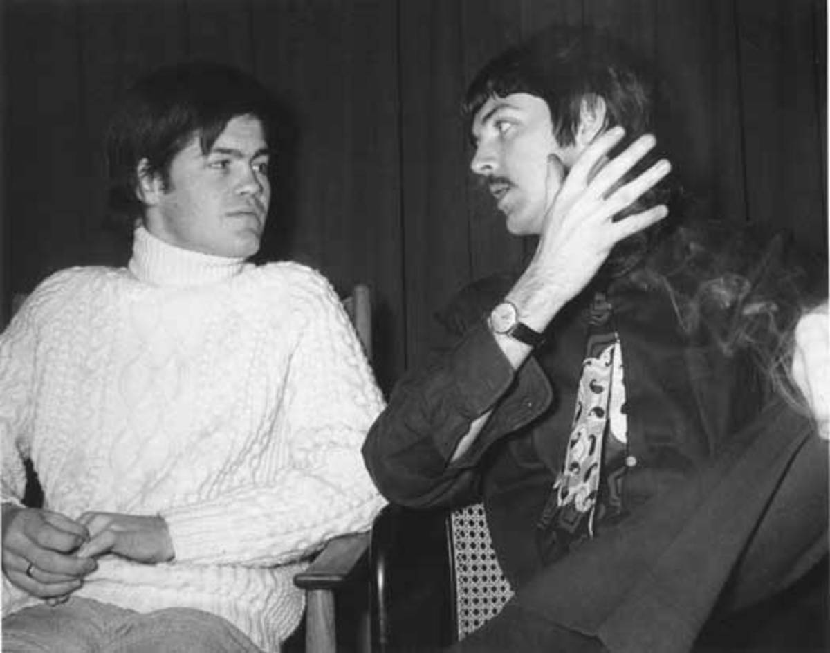 One of Micky's personal photos of him and Paul McCartney
