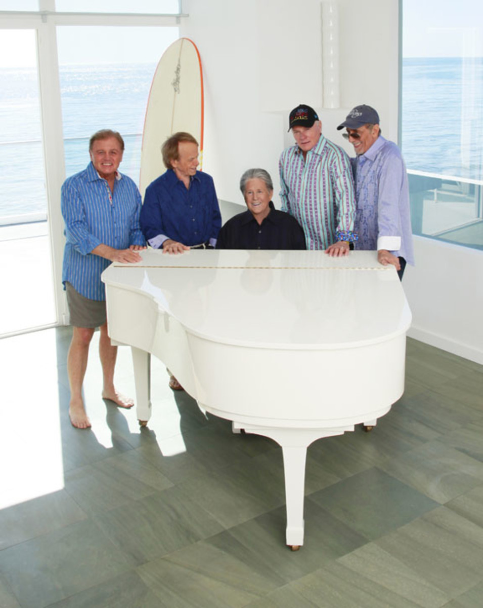 Beach Boys at Malibu Beach house 2012 Guy Webster