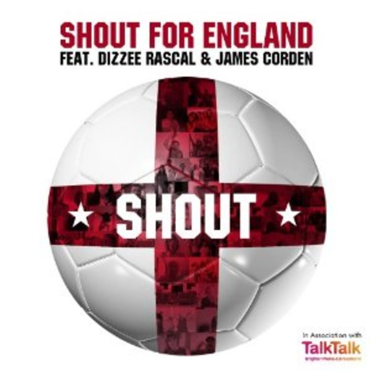 """""""Shout For England"""" is an unofficial World Cup anthem in support of England's soccer team that features rapper Dizzee Rascal and actor/comedian James Corden."""