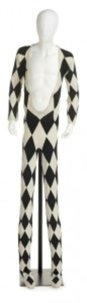 Freddie Mercury harlequin stage costume