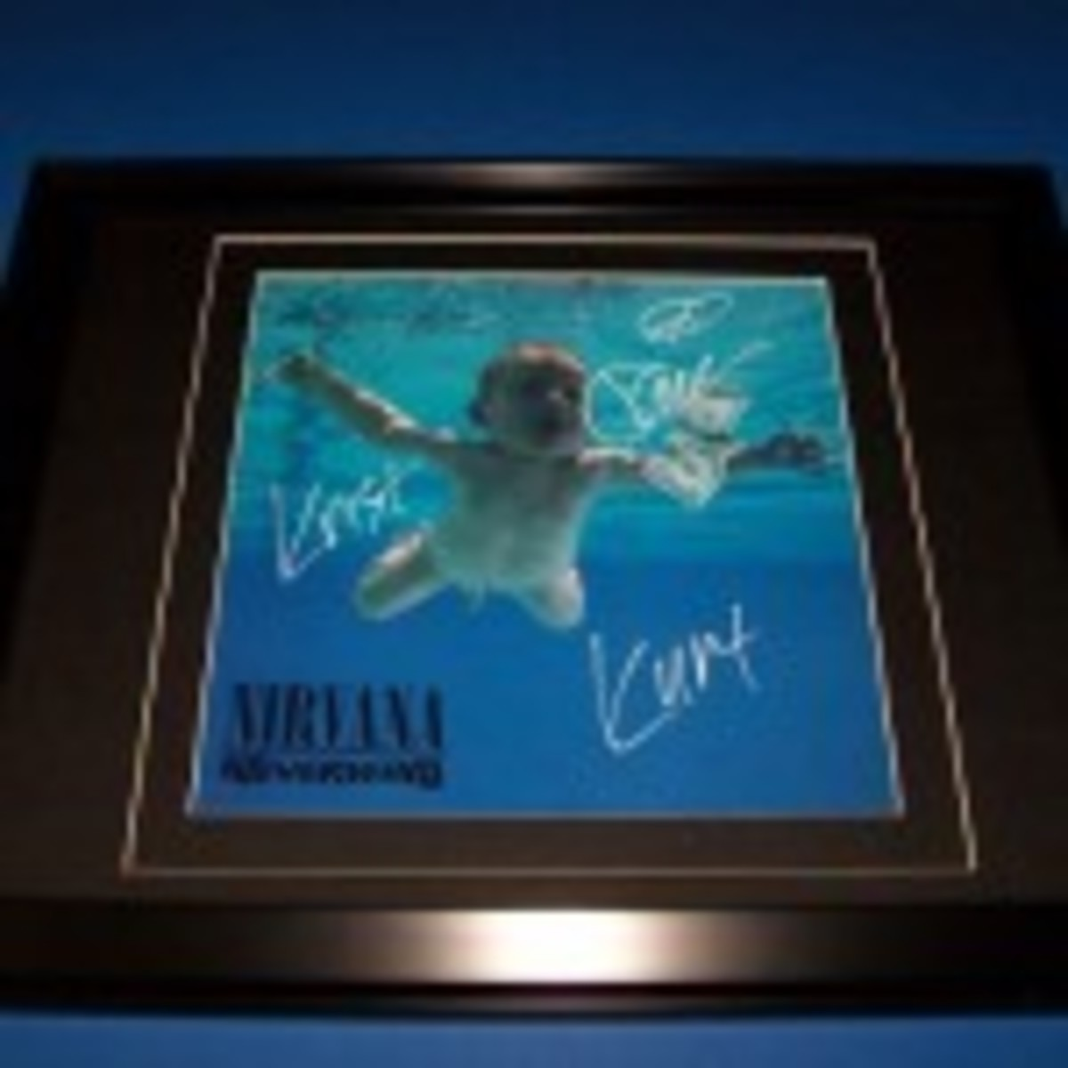Nirvana Nevermind autographed