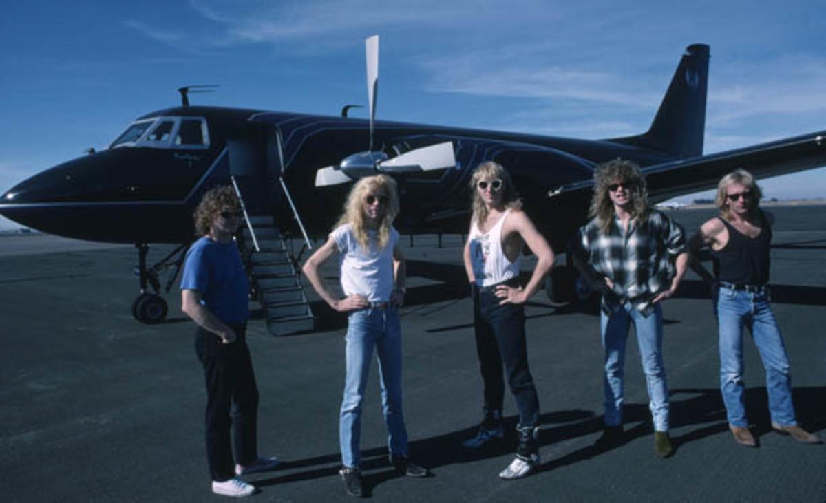 Def Leppard Hysteria plane tour Ross Halfin