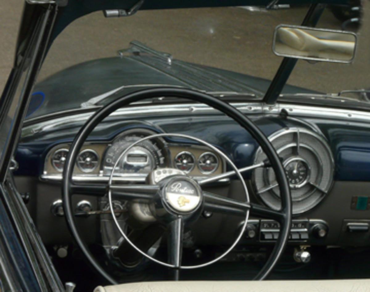 Interior of Keith Richards 1950 Pontiac Silver Streak Convertible