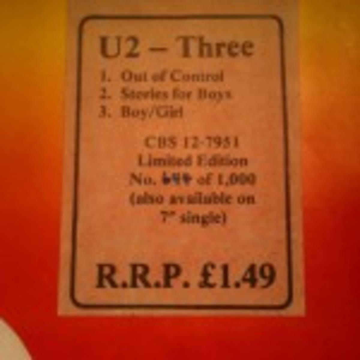 U2, Three 12-inch EP