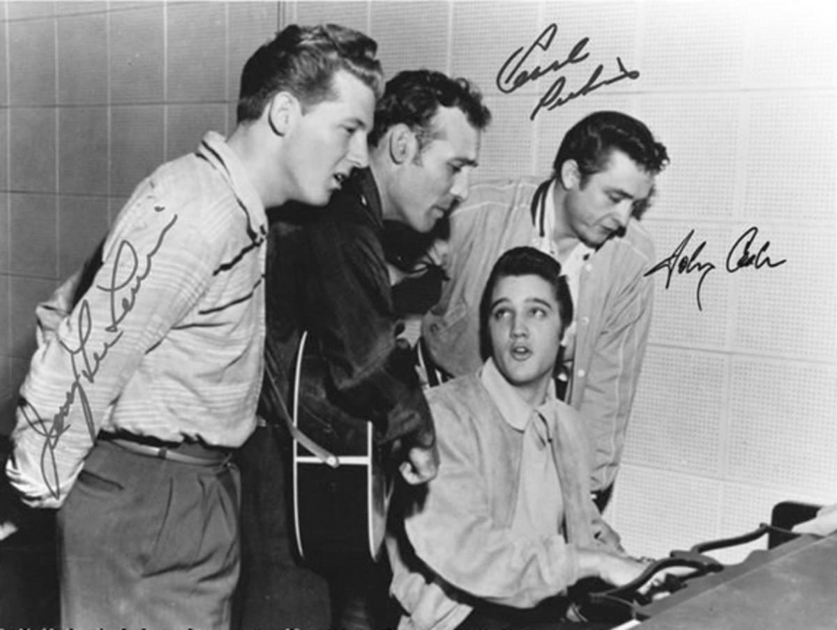 Million Dollar Quartet Carl Perkins Johnny Cash Jerry Lee Lewis Elvis Presley Heritage Auctions photo