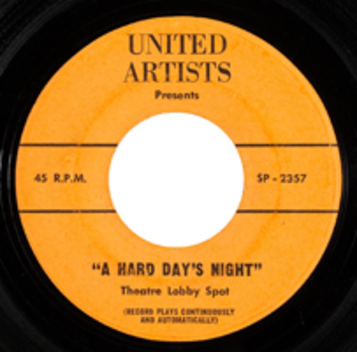 Beatles Hard DAys Night Theater spot rarity