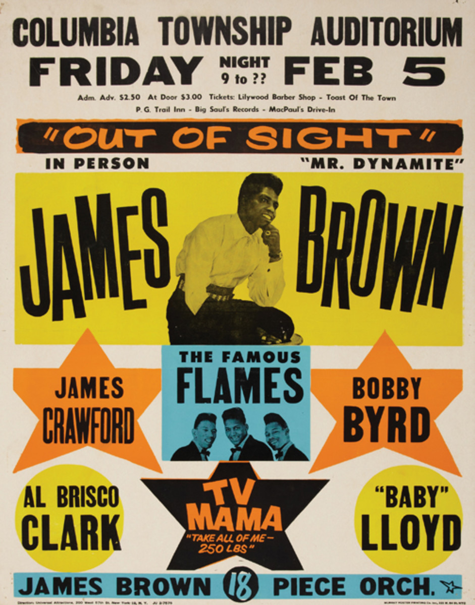 James Brown and The Famous Flames poster