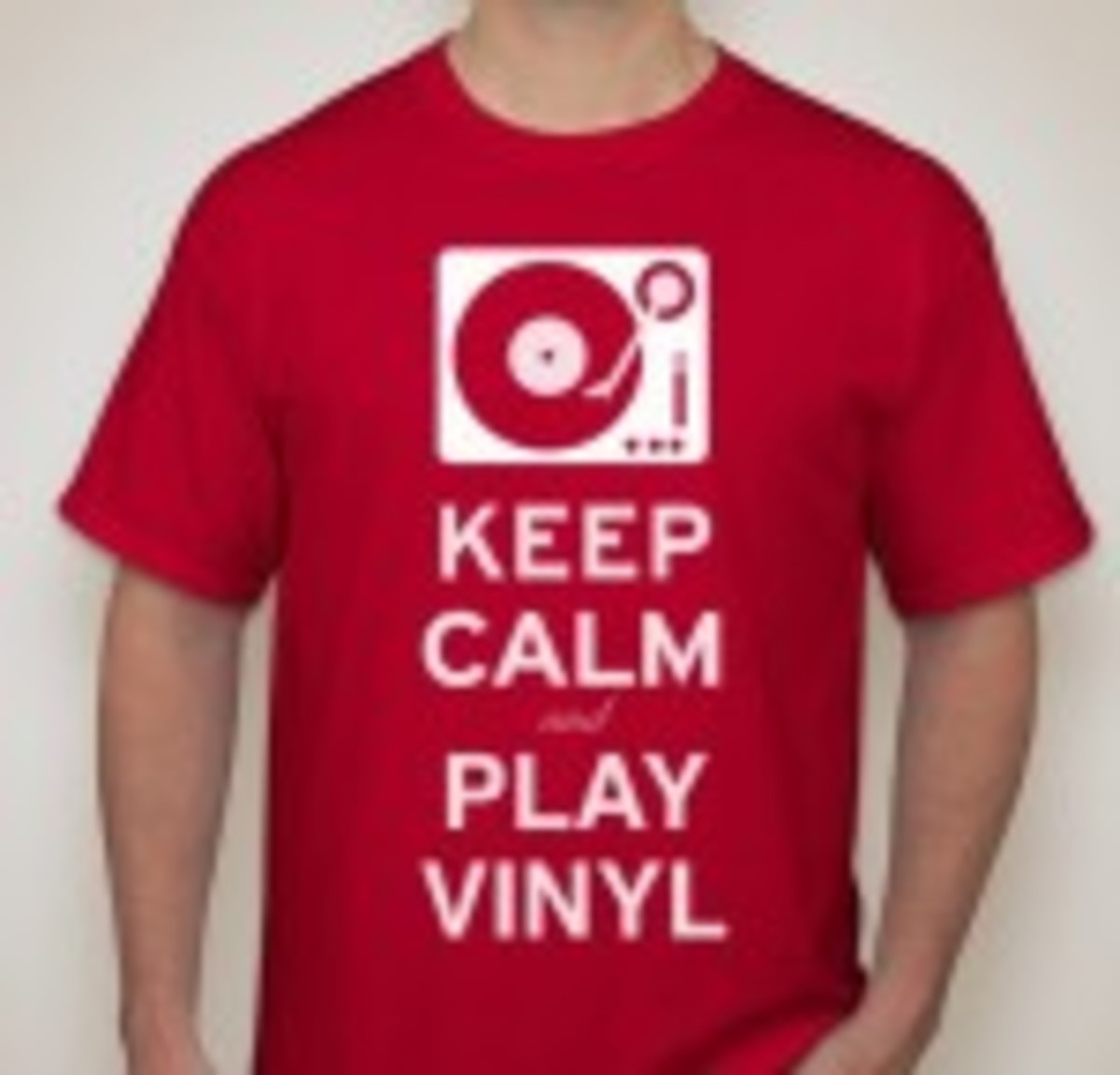 Keep Calm and Play Vinyl T-shirt Goldmine