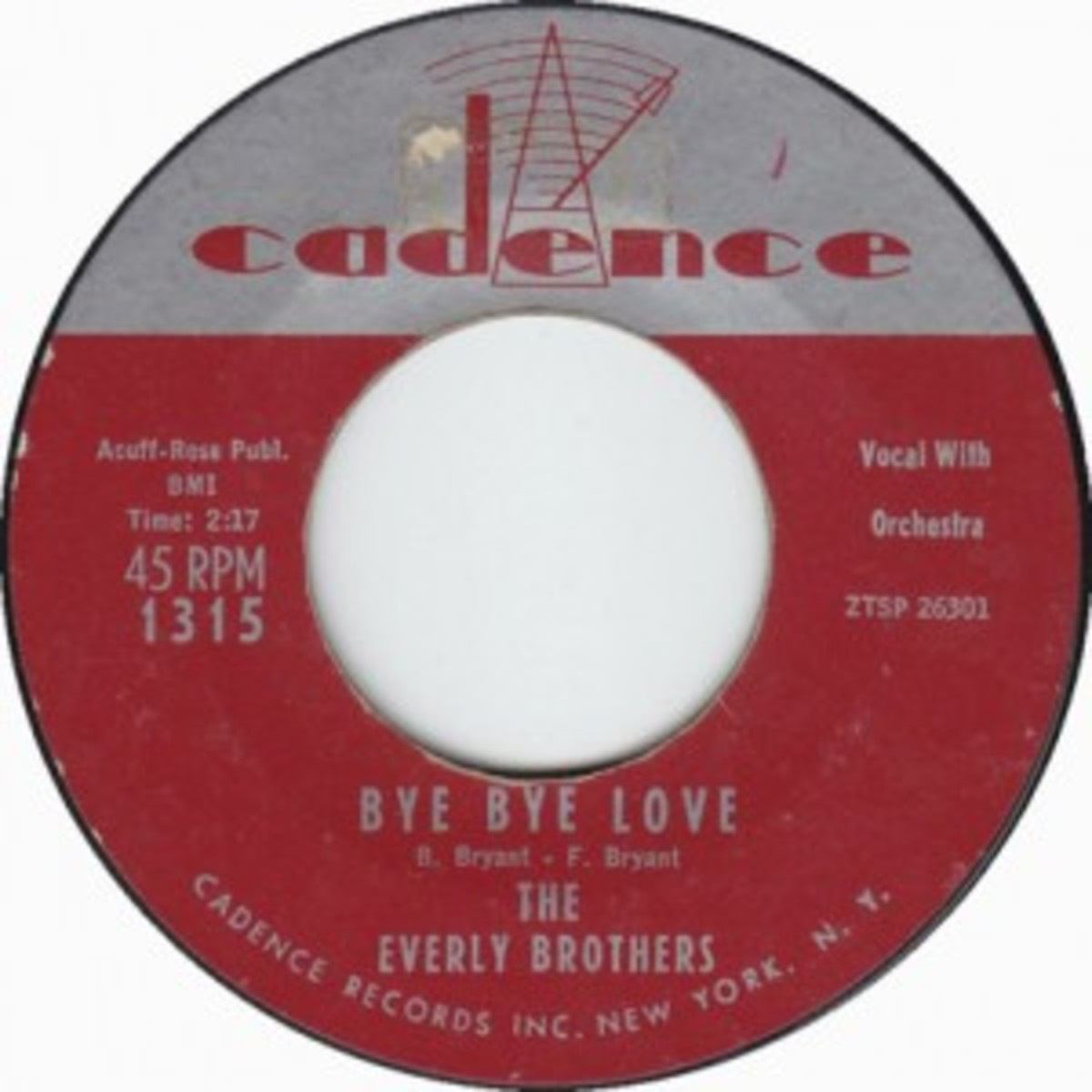 Everly Brothers Bye Bye Love Cadence