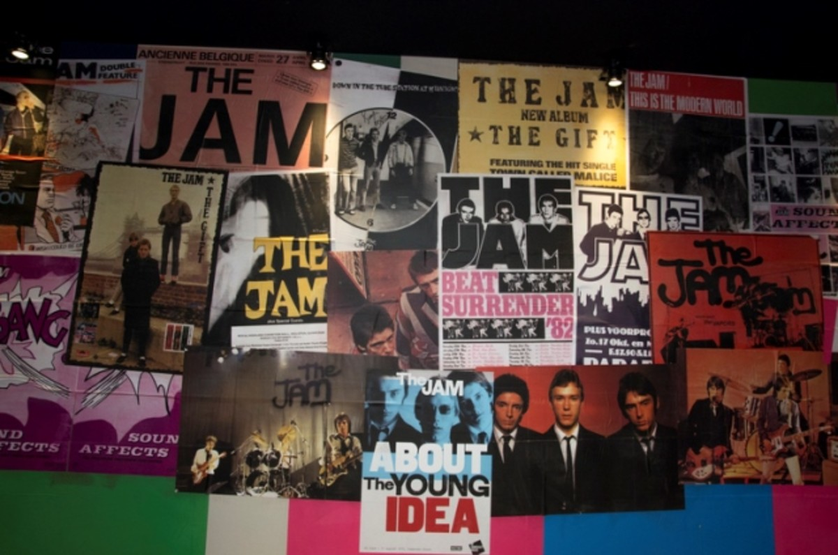 A wall of posters featured at the exhibition is shown here. (Photo by Dean Fardell for Nicetime Productions)
