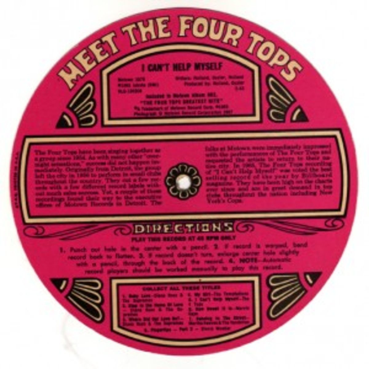 Topps Motown record