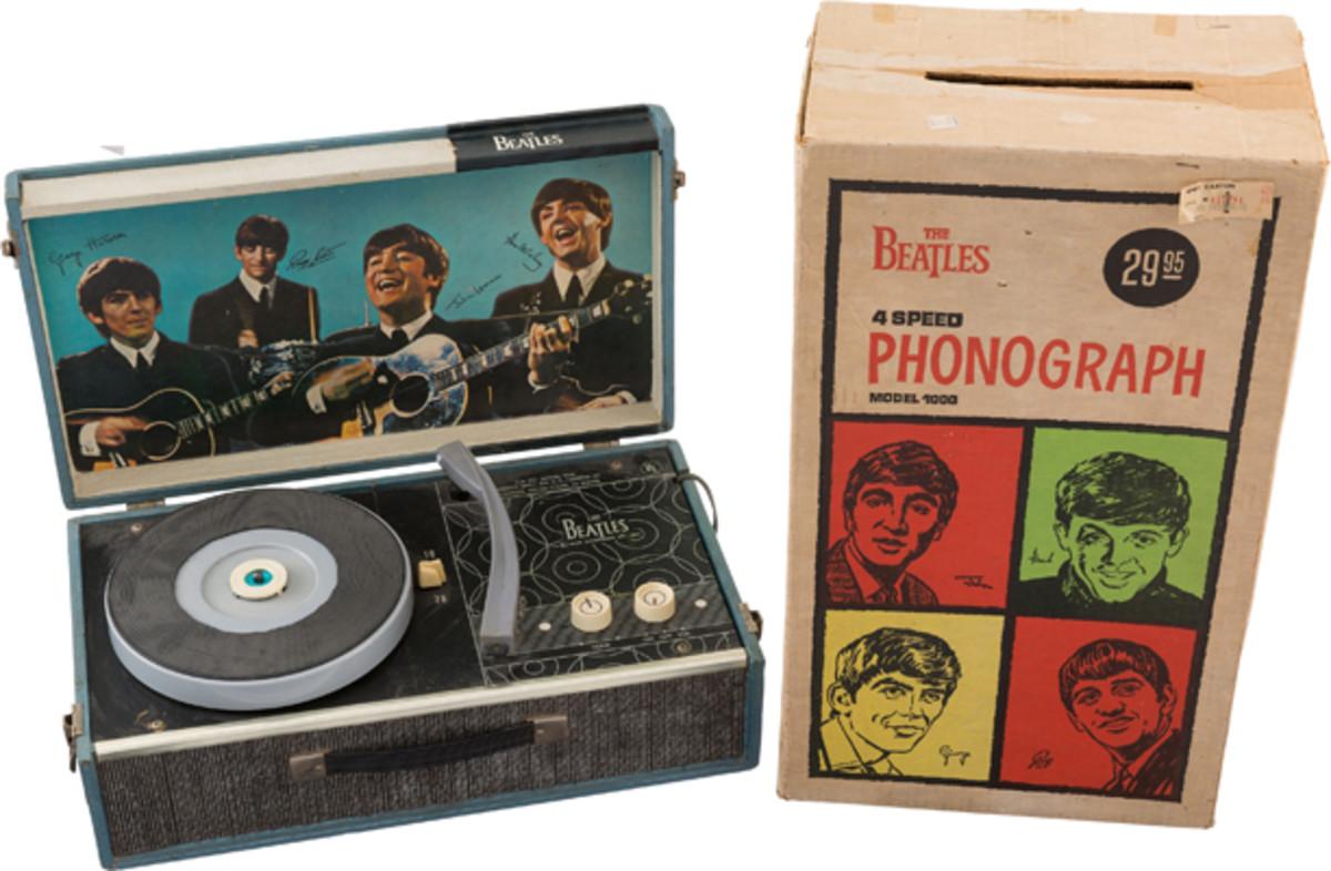 Beatles phonograph and original box