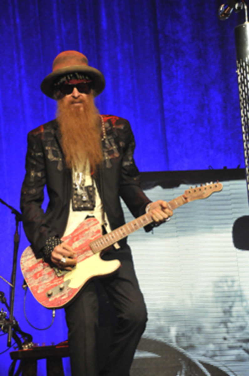 Billy Gibbons on the Grooves & Gravy Tour with ZZ Top, performing on March 10, 2015 at the Bergen PAC in Englewood, New Jersey. Photo by Frank White.