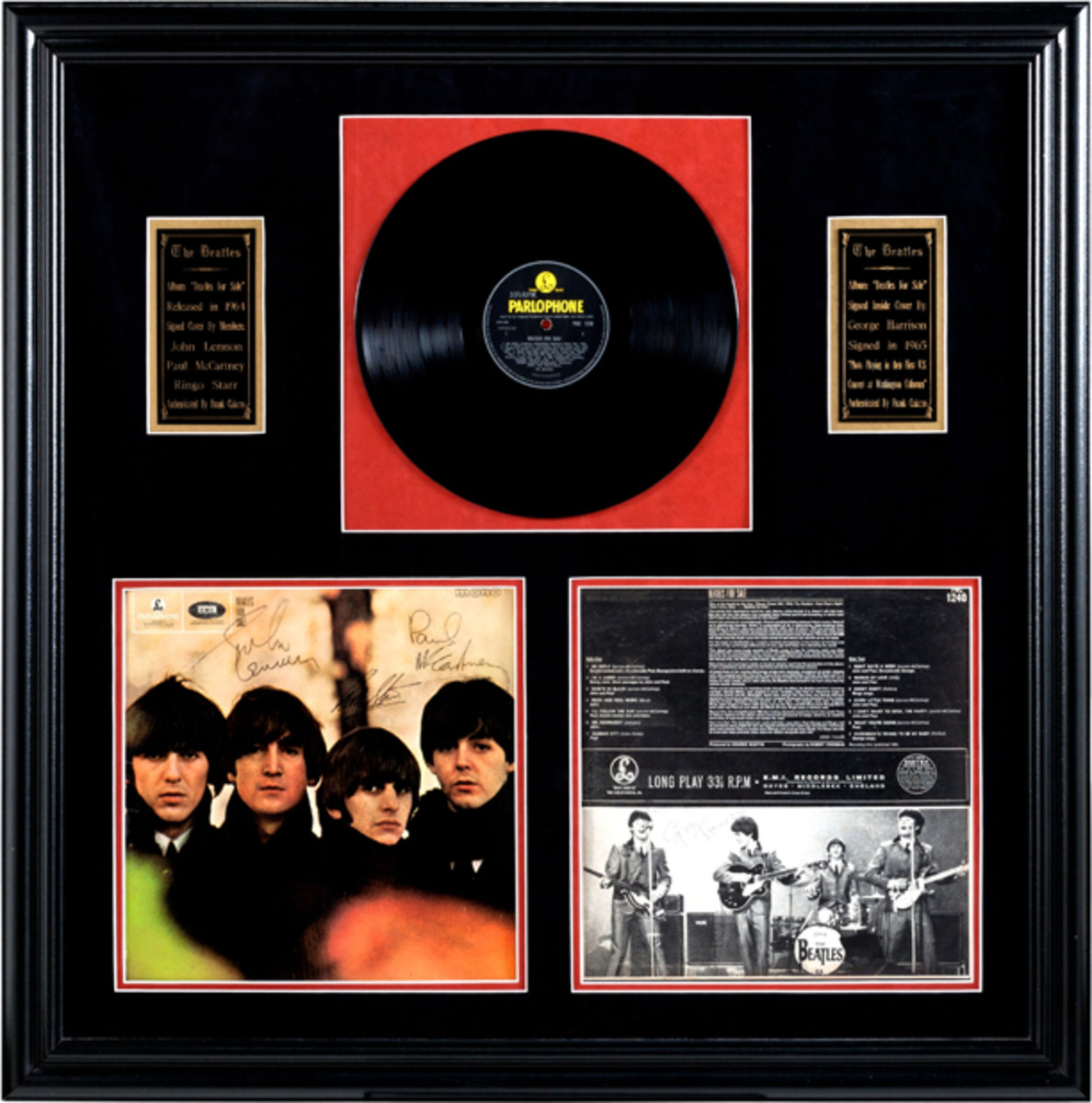 Beatles For Sale signed album display