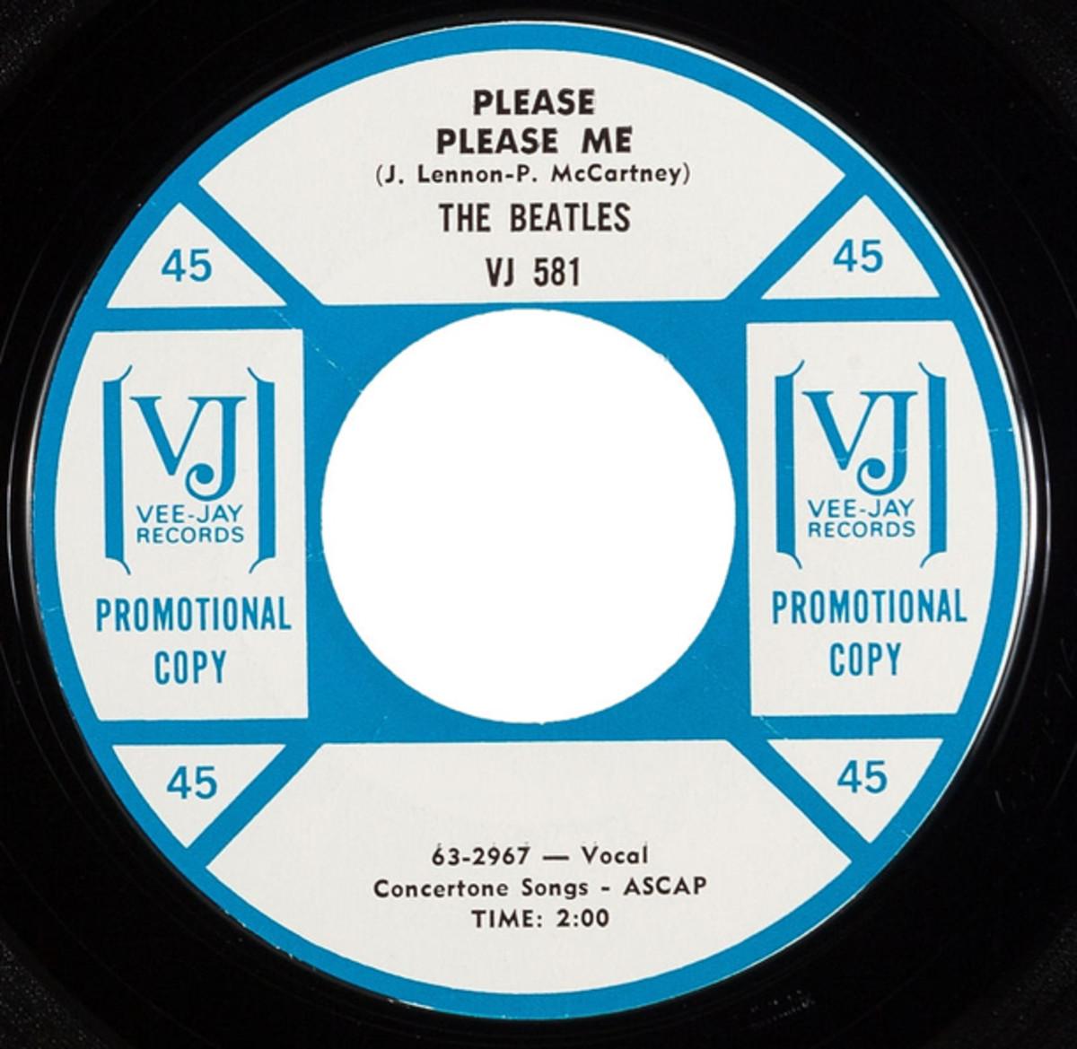 Beatles Vee Jay 581 Please Please Me
