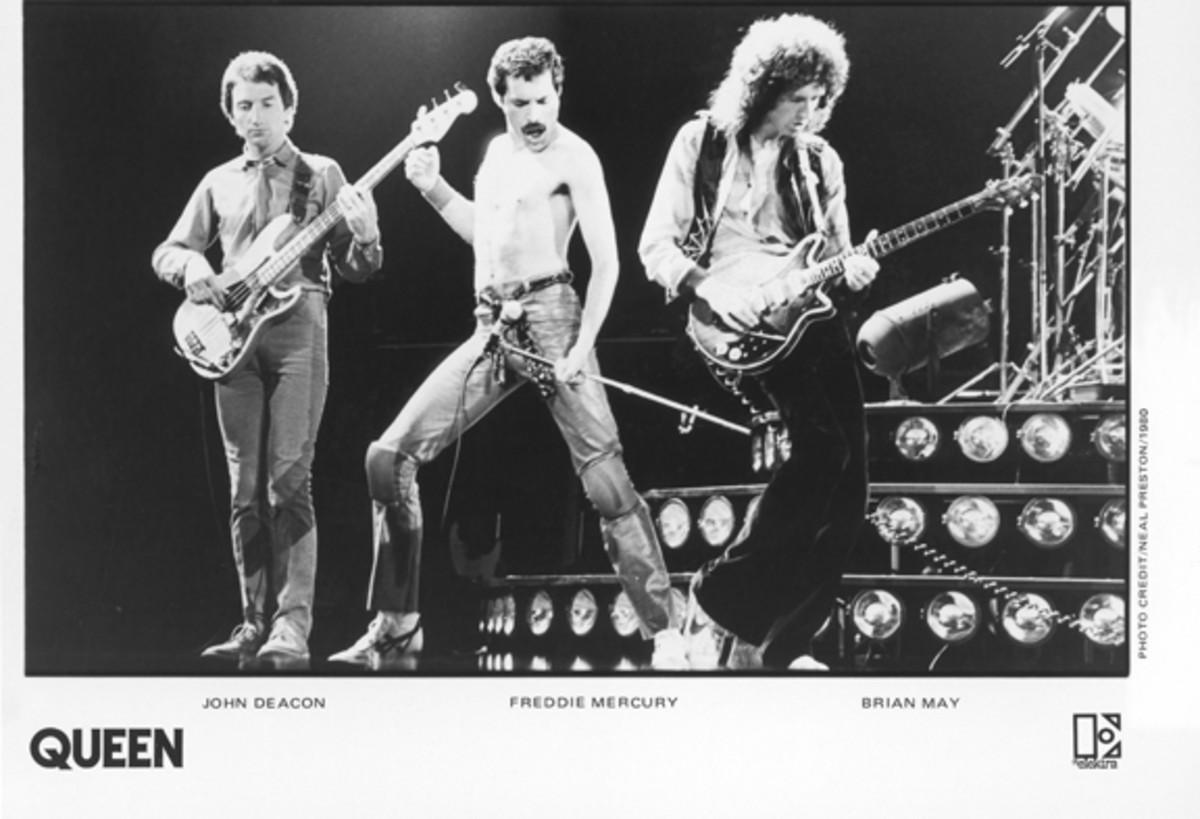 Queen onstage 1980